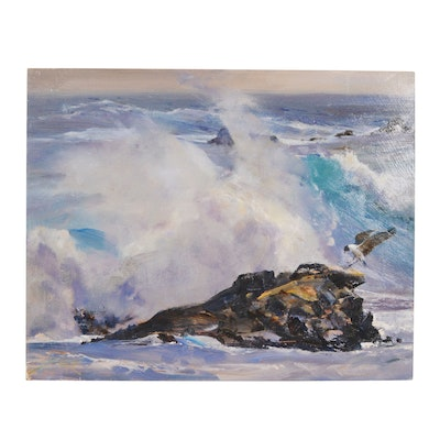"Wesley Kime Oil Painting ""Seascape"""