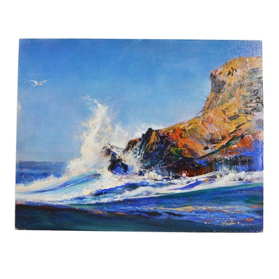 Wesley Kime Oil Painting of Seascape
