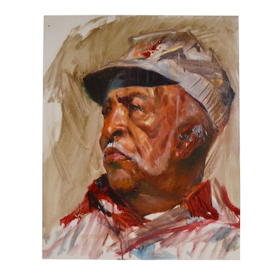 Wesley Kime Older Gentleman Portrait Oil Painting