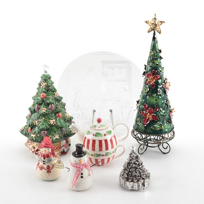 Lenox Christmas Tree Centerpiece and Other Christmas Décor, Contemporary
