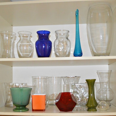 Contemporary Glass and Ceramic Vase Collection