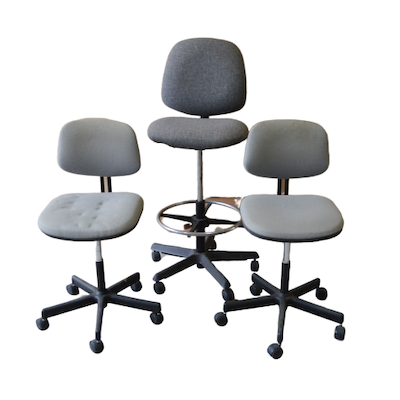 Cort Furniture Drafting Stool and Other Task Chairs, Late 20th Century