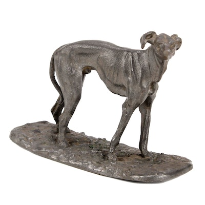 Silver Plate Dog Figurine