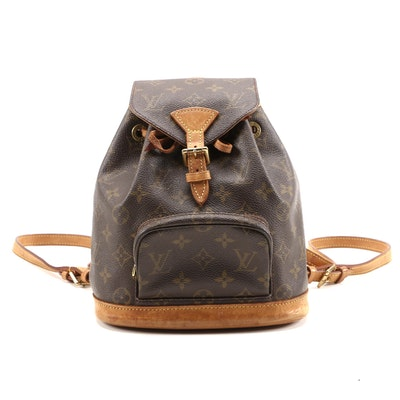 Louis Vuitton Montsouris PM Backpack in Monogram Canvas and Leather