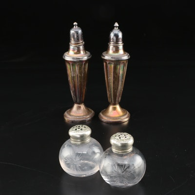 National Silver Co. Weighted Sterling Salt and Pepper Shakers with Others