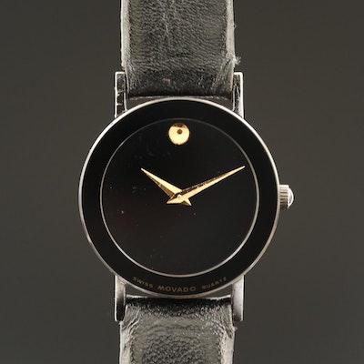 Movado Museum Black PVD Quartz Wristwatch