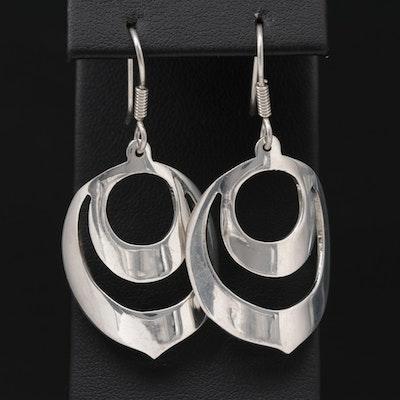 Mexican Sterling Silver Drop Earrings