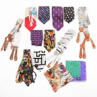 Paul Stuart, Alynn, Nicole Miller, Trafalgar and Other Neckties and Suspenders