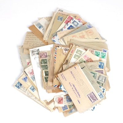 European Postcards, Postage Stamps, and WWII Era Correspondence