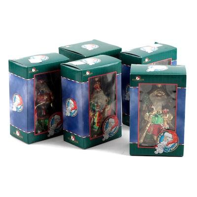 "Kurt Adler ""World of Santas"" Christmas Ornaments with Original Packaging"