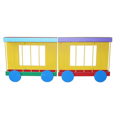 Children's Circus Train Car Wall Mounted Storage/Display Units