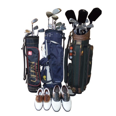 Intech Verdict XL380, Mizuno Tour Classics and Other Golf Clubs, Bags and Shoes