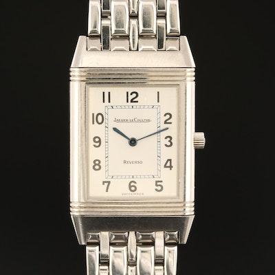 Jaeger LeCoultre Reverso Stainless Steel Quartz Wristwatch