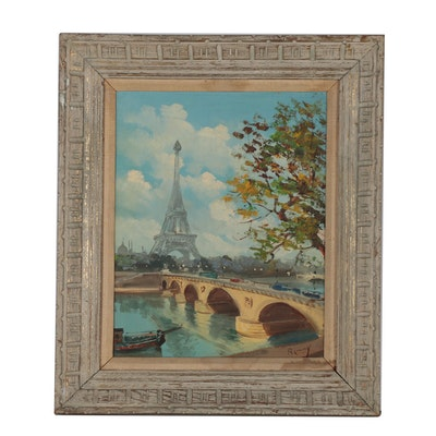 Parisian Cityscape Oil Painting