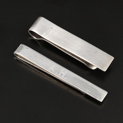 Vintage Tiffany & Co. and Stieff Sterling Silver Tie Clips