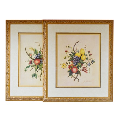 """Bobby Sikes Offset Lithographs """"Fabulous Fruits"""""""