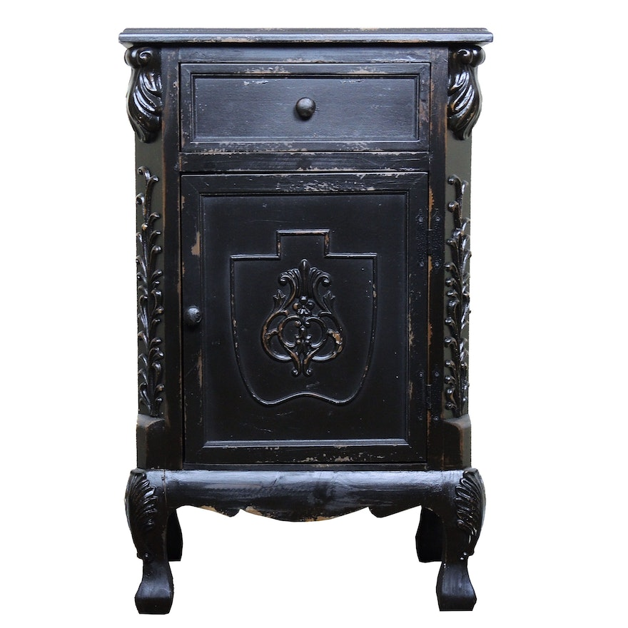 Wooden Nightstand, Contemporary