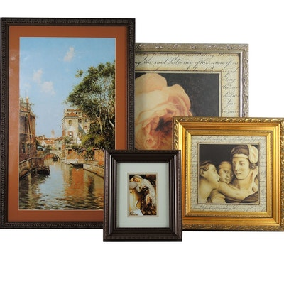 "After Frederick Leighton Offset Lithograph ""Odalisque"" with Other Art"