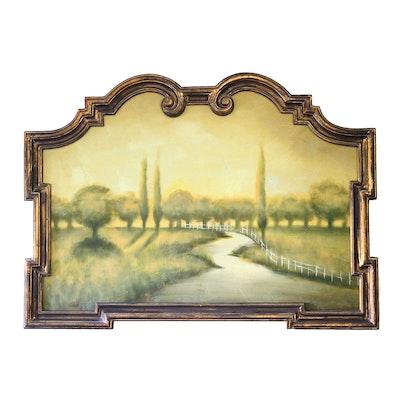 Embellished Print of Rural Landscape