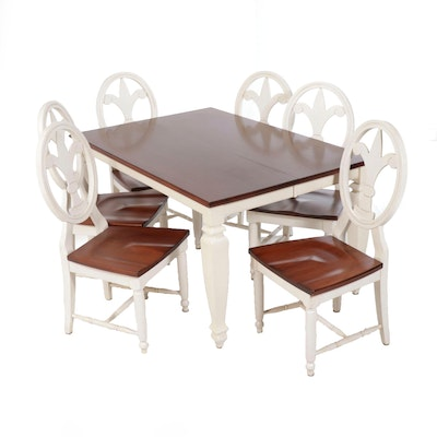 Walter of Wabash French Country Style Dining Table and Chairs, Mid-20th Century