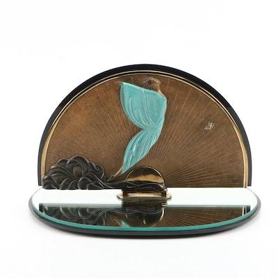 "Erté Patinated Bronze Vanity Mirror ""Transcendence"""