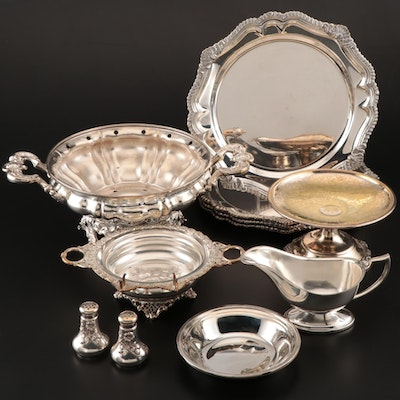 Silver Plate and Silver Tone Metal Shakers and Serveware