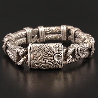 "Versani Sterling Silver ""Twist and Tie"" Bracelet"