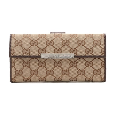 Gucci GG Supreme Canvas Wallet with Box