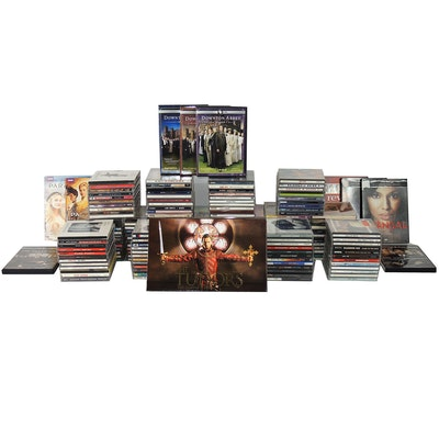 """Music CDs, """"Downton Abbey"""" Season 1-3, """"Scandal"""" and other TV Series DVDs"""