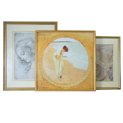 After W.H. Margetson Offset Lithograph with Other Offset Lithographs
