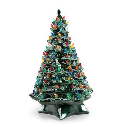 Holland Mold Illuminated Ceramic Christmas Tree