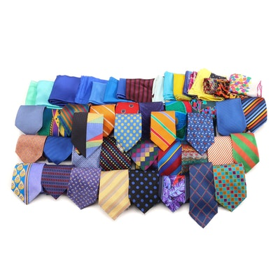 Missoni, Bally, Turnbull & Asser, Brioni with Other Neckties and Pocket Squares