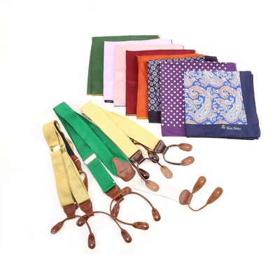 Brooks Brothers Suspenders and Pockets Squares