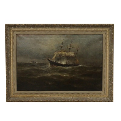 Maritime Oil Painting, Early 20th Century
