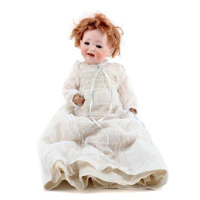 "15"" Hertel, Schwab & Co. Porcelain Baby Doll, Made in Germany, circa 1912"