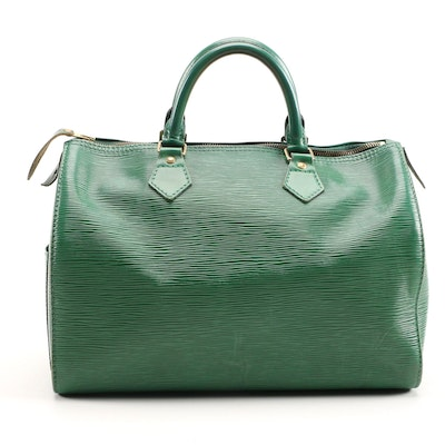 Louis Vuitton Speedy 30 in Borneo Green Epi Leather