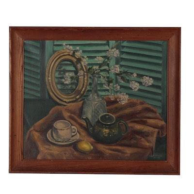 M. L. Hittner Still Life Oil Painting, 1955