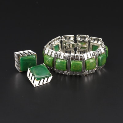 Panel Bracelet with Bakelite Accents