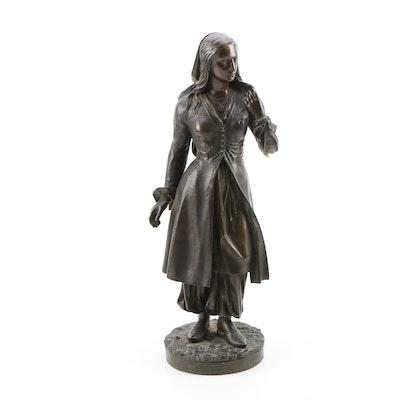 After Eugene Lamy Bronze Sculpture of Turkish Maiden, Late 19th Century