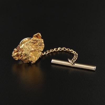 20K Gold Nugget Lapel Pin