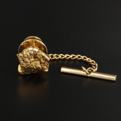 22K Gold Nugget Tie Tack