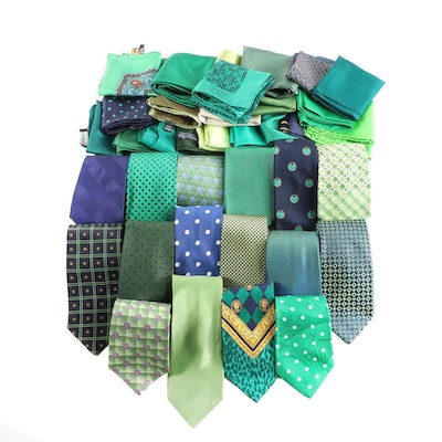 Donna Karan, Brooks Brothers, Bally and Other Neckties with Pocket Squares