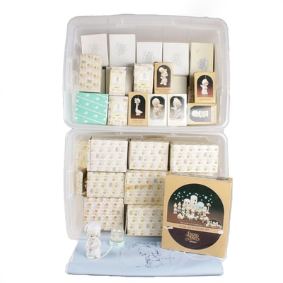 "Enesco ""Precious Moments"" Porcelain Figurines, Music Box and Miniatures"
