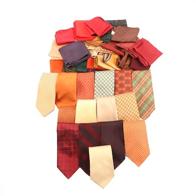 Longchamp, Brioni, BOSS Hugo Boss with Other Neckties and Pocket Squares