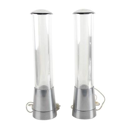Pair of Blomus Modern Pillar Console Lamps