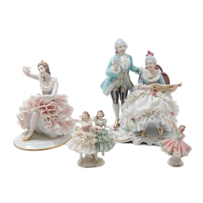 Dresden Lace Porcelain Figurines