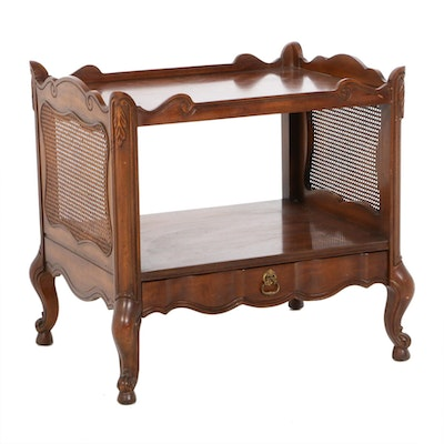 Weiman Louis XV Style Serpentine Fruitwood End Table, Mid to Late 20th C.