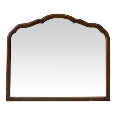 Scalloped Edge Traditional Mahogany Wall Mirror, Late 20th Century