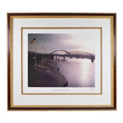 "J. Miles Wolf Offset Lithograph ""Serpentine Wall. Cincinnati"""