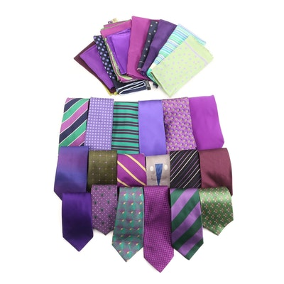 Dunhill, Brooks Brothers, Paul Stuart with Other Neckties and Pocket Squares